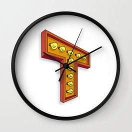 The T Letter Wall Clock
