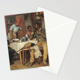 A Pastoral Visit, by Richard Norris Brooke, 1881, An African American family Stationery Cards