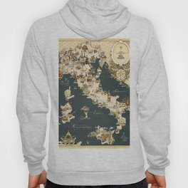 Gastronomic Map of Italy 1949 Hoody