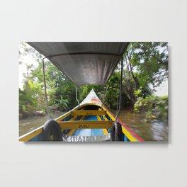 Floating Market in Bangkok, Thailand Metal Print