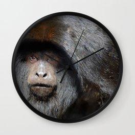 Black Howler Monkey Wall Clock