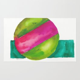 180819 Geometrical Watercolour 2  | Colorful Abstract | Modern Watercolor Art Rug