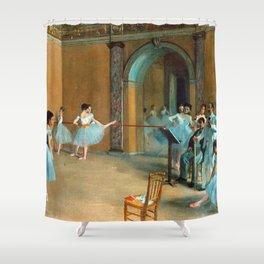 Edgar Degas - Le Foyer de la danse à l'Opéra de la rue Le Peletier.jpg Shower Curtain