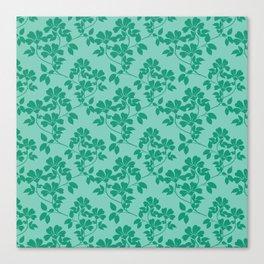 Emerald Green Leaves Canvas Print