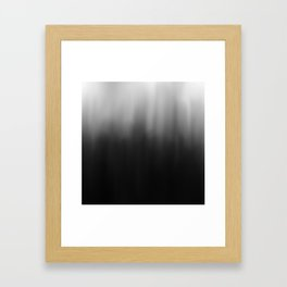 charcoal ombre Framed Art Print