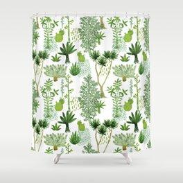 Green jungle pattern Shower Curtain