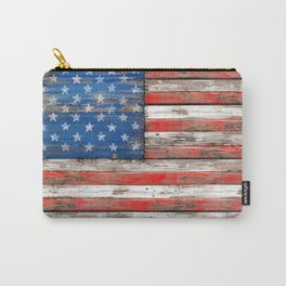 USA Vintage Wood Carry-All Pouch
