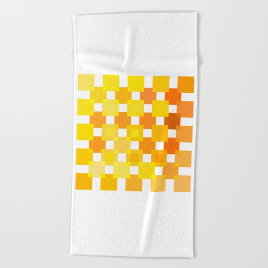50 Squares of YELLOW - Living Hell Beach Towel