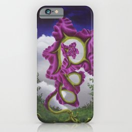 Purple Poppy Flower iPhone Case