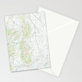 ID Oakley 239400 1993 topographic map Stationery Cards