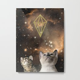 Galaxy Cats Metal Print