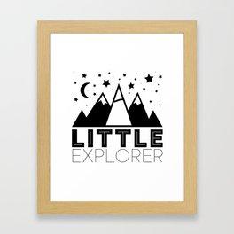 Little Explorer Framed Art Print