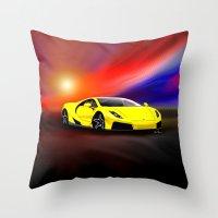 gta Throw Pillows featuring Spania GTA by JT Digital Art