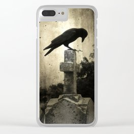 The Crow's Cross Clear iPhone Case