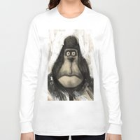 ape Long Sleeve T-shirts featuring mr. Ape by mystudio69
