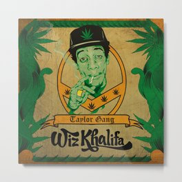 Wiz Khalifa smoking dope Metal Print
