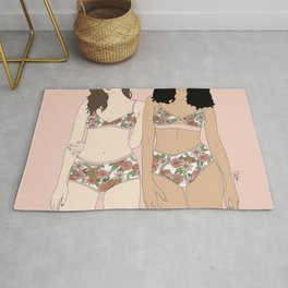 Girls in Florals Rug