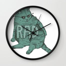 Rad Cat Wall Clock