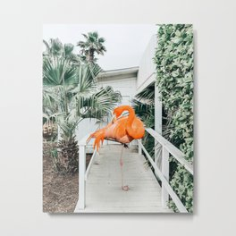 Flamingo Beach House #photography #digitalart Metal Print
