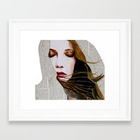 literary Framed Art Prints featuring Literary Girl by Charlotte Massey
