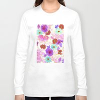 oriental Long Sleeve T-shirts featuring Oriental blossom by Federico Faggion