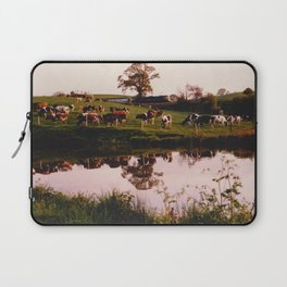 Cows in the Canal Laptop Sleeve