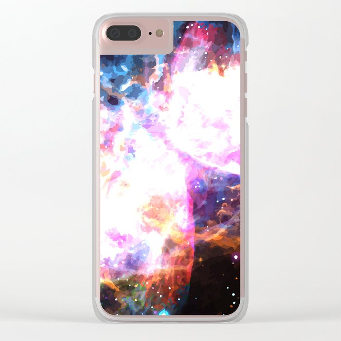Supernovae Clear iPhone Case