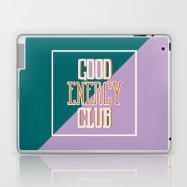Good Energy Club- turquoise, orange, and lavender Laptop & iPad Skin