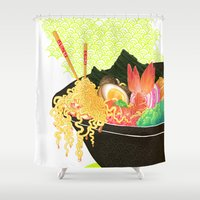 ramen Shower Curtains featuring Ramaid by SinisterSquids