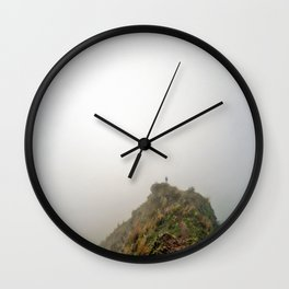 Alone at the end of the world Wall Clock