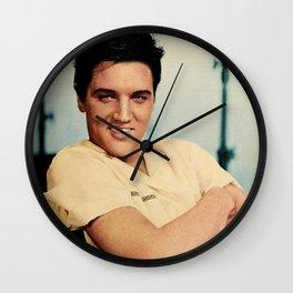 ELVIS PRESLEY - COLOURIZED - 1958 Wall Clock