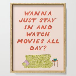 Watch Movies All Day Serving Tray