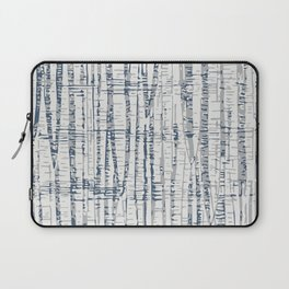 Abstract Woodland Landscape in Blue and Gray Laptop Sleeve