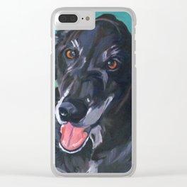 Bob the Black Dog Fine Art Portrait Clear iPhone Case
