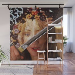Kill Bill's Elle Driver & Botticelli's Flora Wall Mural
