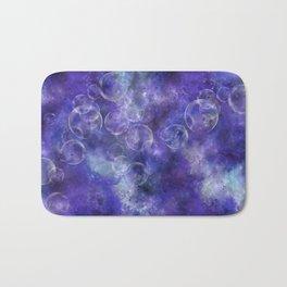 Space Universe with surreal soap bubbles Bath Mat