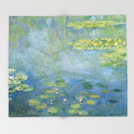 Water Lilies 1906 by Claude Monet Throw Blanket