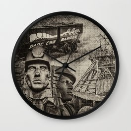 Mining Tribute Antique 1 Wall Clock