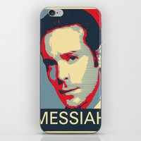 battlestar iPhone & iPod Skins featuring Baltar 'Messiah' design. Inspired by Battlestar Galactica. by hypergeek