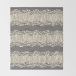 Wavy River III in brown, tan and cream Throw Blanket