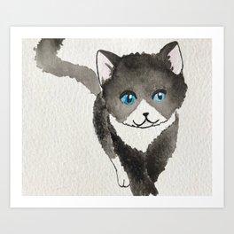Sneaky Kitten Art Print