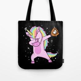 Dabbing Softball Unicorn Tote Bag