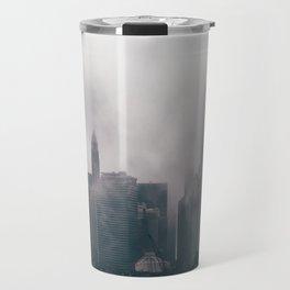 Chicago Shrouded in Fog Travel Mug