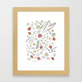 Midsummer Table Framed Art Print