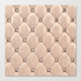 Beige upholstery pattern Canvas Print