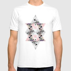 Queen of diamonds Mens Fitted Tee MEDIUM White