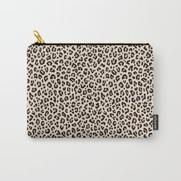 BLACK and WHITE LEOPARD PRINT – Ecru | Collection : Leopard spots – Punk Rock Animal Prints. Carry-All Pouch