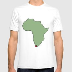 Ali Hearts Cape Town MEDIUM Mens Fitted Tee White