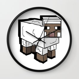 MlNECRAFT Sheep Wall Clock