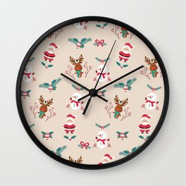 Christmas Puppets Wall Clock